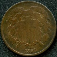 1866 VG 2C TWO CENT PIECE