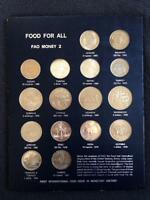 1970 FAO BLUE MONEY PAGE 2 COINS OF VARIOUS NATIONS INCLUDING THE  INDIA 10