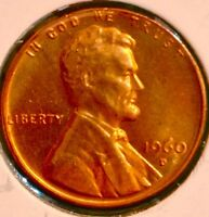 1960 D/D LINCOLN MEMORIAL CENT.. LUSTER TONE BU RD..SALE 50OFF REDUCE 6/29  K1