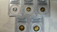 INDONESIA 1995 PROOF SET 25 50 100 500 1000 RUPIAH PCGS 64 67 UNLISTED