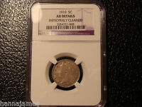 LOOKING 1910 LIBERTY V NICKEL NGC AU DETAILS CLEANED LOW COST/LOW SHIPPING