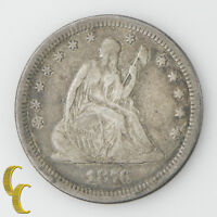 1878 CC US SEATED LIBERTY QUARTER FINE F CONDITION LIBERTY IS FULLY READABLE