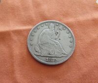 1872 50C SEATED LIBERTY HALF DOLLAR FULL LIBERTY VF DETAILS
