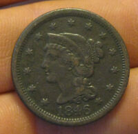 U.S.   1846 BRAIDED HAIR LARGE CENT