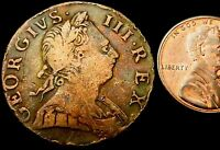 R830: 1774 GEORGE III COPPER HALFPENNY