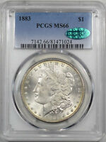 1883 MORGAN DOLLAR PCGS MS 66 CAC APPROVED