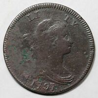 1797 S-137 R2 DRAPED BUST LARGE CENT COIN 1C