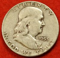 1953 S FRANKLIN  HALF DOLLAR AV CIRC BEAUTIFUL COIN CHECK OUT STORE  FH238