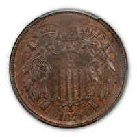 1871 2C TWO CENT PIECE PCGS MINT STATE 66BN