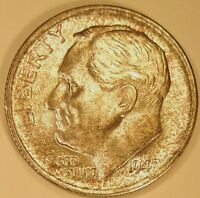 1947 S ROOSEVELT NICELY TONED  BRILLIANT UNCIRCULATED FROM TREASURY MINT SET