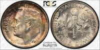 1946 S ROOSEVELT SILVER DIME GRADED MS66FB BY PCGS