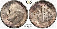 1949 S ROOSEVELT SILVER DIME GRADED MS66 BY PCGS & TONED