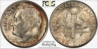 1950 S ROOSEVELT SILVER DIME GRADED MS67 BY PCGS & TONED