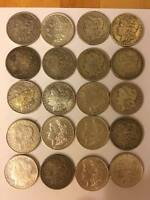 SILVER MORGAN DOLLAR ROLL 20 COINS MIXED MINTMARKS 1800S