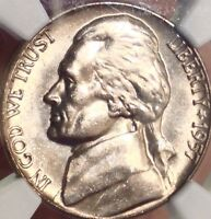 1957 D JEFFERSON NICKEL..NGC MS 66 5FS..GEM SALE 35OFF REDUCED 8/27