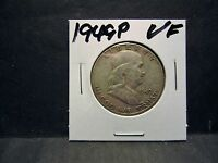 1949P  90 SILVER  FRANKLIN HALF DOLLAR FINE 20  CONDITION  NO DAMAGE