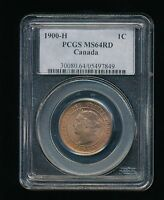 1900 H CANADA LARGE CENT PCGS MS 64 RED RD VICTORIAN PENNY HEATON MINT