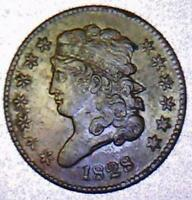 1828 UNCIRCULATED 13 STAR HALF CENT