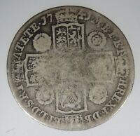 GREAT BRITAIN 1 SHILLING 1741 SILVER S  GEORGE II UK GB WORLD COIN