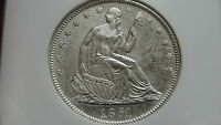 1861 O S.S. REPUBLIC SHIP WRECK SEATED SILVER HALF DOLLAR CERTIFIED