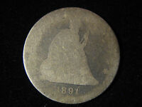1891 LIBERTY SEATED QUARTER 25C   90 SILVER