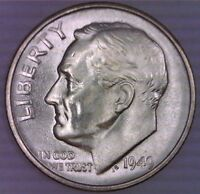 1949 S ROOSEVELT DIME  UNCIRCULATED  SILVER 10 CENT 10C FDR FRANKLIN D. 2101
