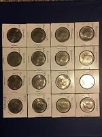 LOT OF 16 KENNEDY HALF DOLLARS  AUCTION