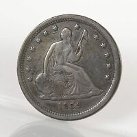 RAW 1839 SEATED LIBERTY 25C NO MOTTO UNCERTIFIED UNGRADED US SILVER QUARTER COIN