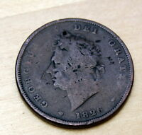 1826 GREAT BRITAIN PENNY HOLED