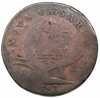 1787 NEW JERSEY COPPER MARIS 63 S VG DETAIL