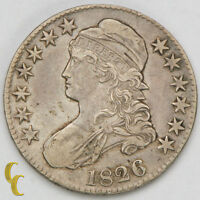 1826 BUST SILVER HALF DOLLAR F FINE CONDITION STRONG DETAIL BOTH SIDES
