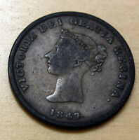 1843 NEW BRUNSWICK 1/2 PENNY TOKEN ERROR