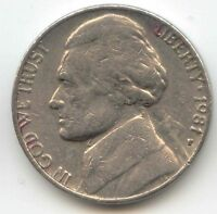 USA 1981P AMERICAN NICKEL FIVE CENT PIECE 5C 5 CENTS JEFFERSON 1981 P EXACT COIN