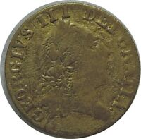 BRITISH TOKEN  GEORGE III 1791 BRASS BEAUTY C35