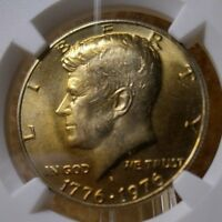 1776  1976 D KENNEDY 50C NGC CERTIFIED MS 65