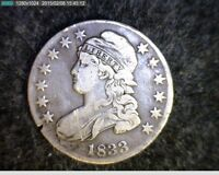 1833 CAPPED BUST SILVER HALF DOLLAR  9038