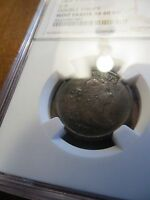 1804 SPIKED CHIN C 6 NGC MINT ERROR XF 40  BN DOUBLE STRUCK HALF CENT COIN 1/2C