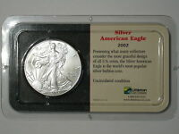 2002 AMERICAN SILVER EAGLE 1 OZ .999 FINE SILVER  BU LITTLETON SEALED SHOW PAC