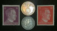 WW2 GERMAN COINS & UNUSED STAMPS WORLD WAR 2 AUTHENTIC ARTIFACTS