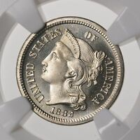 1882 THREE CENT NICKEL 3CN NGC CERTIFIED PF 65 CAMEO PROOF STRUCK US MINT COIN