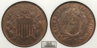 1871 2 CENTS NGC MINT STATE 65 BN