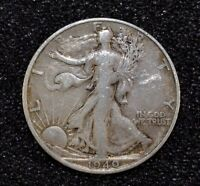 1940 S WALKING LIBERTY HALF DOLLAR 90 SILVER CIRCULATED COIN   C6497