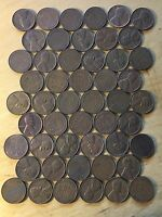 ROLL OF 50 US CENTS DATED 1955 D XF AU
