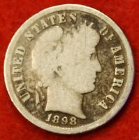 1898 P BARBER / LIBERTY HEAD DIME G COLLECTOR COIN GIFT CHECK OUT STORE BD302