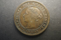 5 CANADA LARGE ONE CENT COINS   VICTORIA   1876 1881 1886 1893 1895