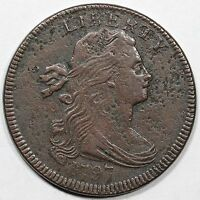 1797 S-124 R-5 CC5 EDS DRAPED BUST LARGE CENT COIN 1C