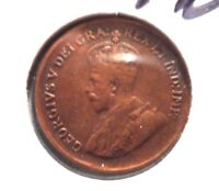 CIRCULATED 1932 ONE CENT CANADIAN COIN  62715