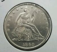 1860 S SEATED HALF DOLLAR