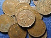 1938 CANADIAN SMALL CENTS KING GEORGE VI        BUY ONE OR BUY THEM ALL