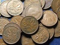 1943 CANADIAN SMALL CENTS KING GEORGE VI        BUY ONE OR BUY THEM ALL